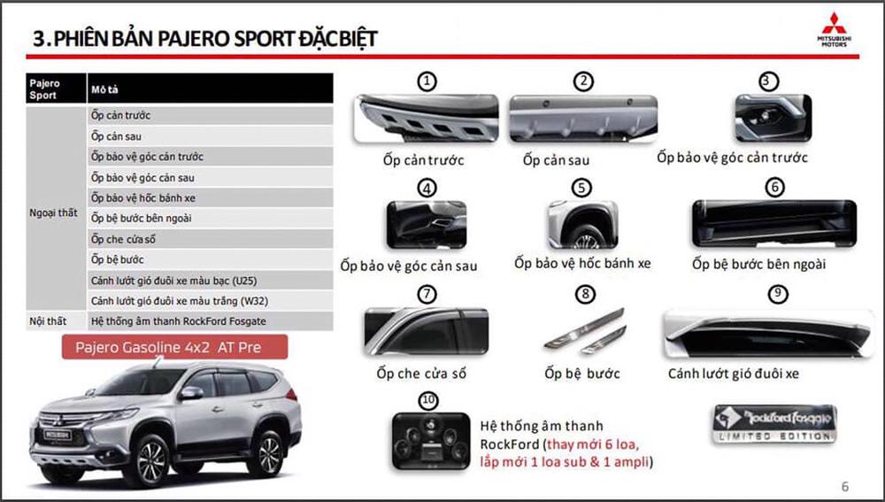 Các trang bị mới xuất hiện trên Mitsubishi Pajero Sport Special Edition