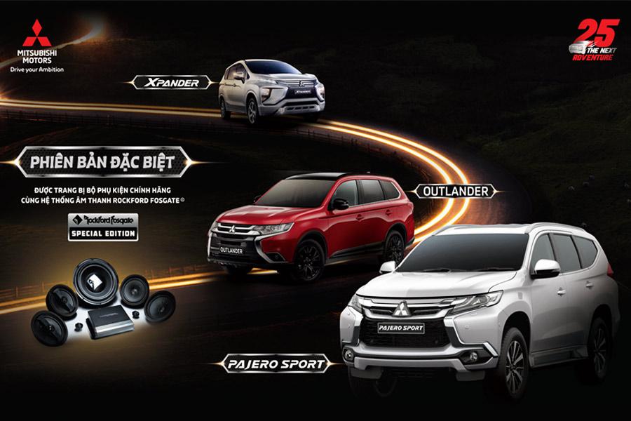Mitsubishi Việt Nam ra mắt 3 phiên bản đặc biệt
